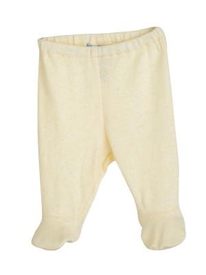 Pantaloni bebeluși, limonadă, din bumbac organic