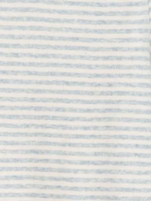 Costumaș bebeluși, în dungi bleu deschis, din bumbac organic