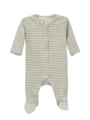 Costumaș bebeluși, în dungi, din bumbac organic