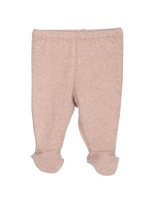 Pantaloni prematuri, din bumbac organic, cu model clay
