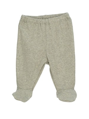Pantaloni prematuri, din bumbac organic, cu model sage