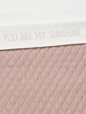 Cearșaf pătuț, model mesaj roz