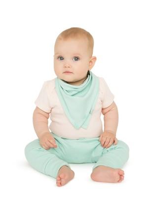 Set 2 eșarfe bebeluși, bleu & gri, din bumbac organic