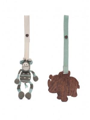 Ami și Kenia, set 2 jucării pentru cărucior