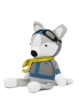 Henry, câinele Husky, jucărie zornăitoare