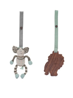 Kellan și Jojo, set 2 jucării pentru cărucior
