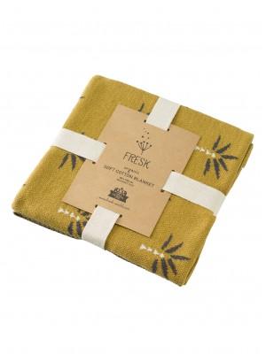 Pătură Fine Knitted, din bumbac organic, cu model Palmtree