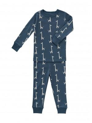 Set pijama pentru băieți, din bumbac organic, model Giraf
