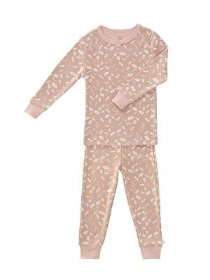 Set pijama pentru fetițe, din bumbac organic, model Forest