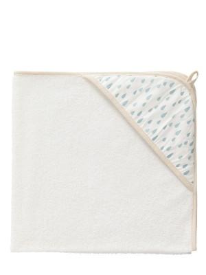 Prosop bebeluși din bumbac organic, cu model Raindrops blue