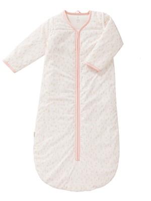 Sac de dormit gros, cu mâneci detașabile, model Raidrops Pink, 90 cm