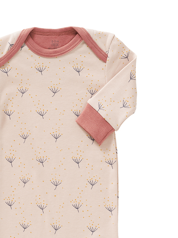 Salopetă bebeluși,  cu botoși, din bumbac organic, model Dandelion