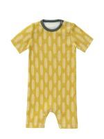 Salopetă de vară, pentru bebeluși 3-6 luni, din bumbac organic, model Havre yellow