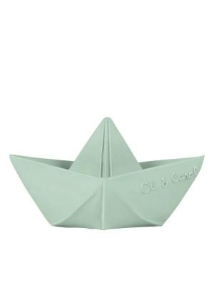 Bărcuță Origami, mentă, jucărie pentru baie