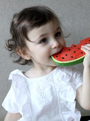 Set 2 jucării pentru dentiție, din cauciuc natural, Fructe de Vară
