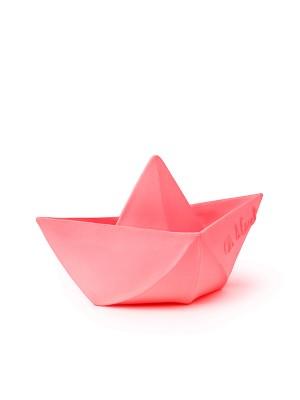 Bărcuță Origami, roz, jucărie pentru baie