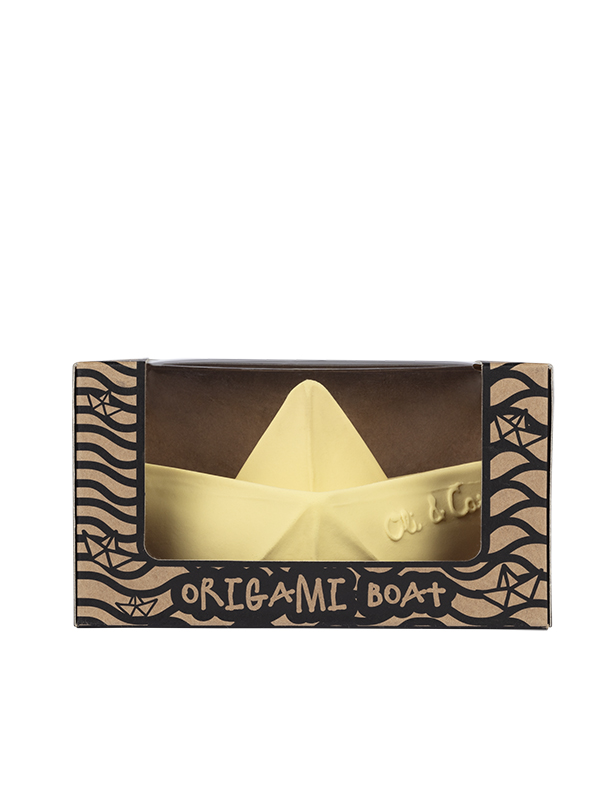 Bărcuță Origami, vanilie, jucărie pentru baie