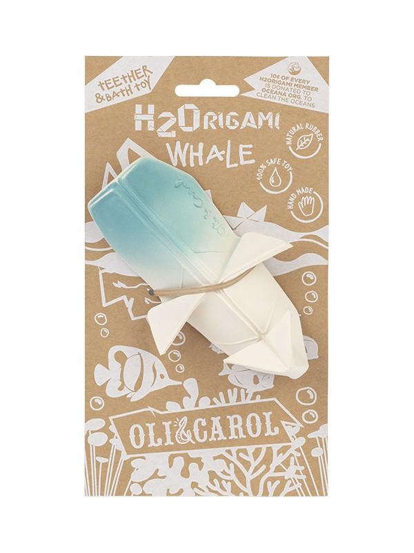 Balenă Origami, jucărie din cauciuc natural