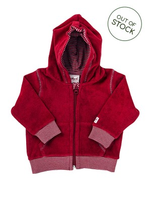 Jacheta din catifea roșie