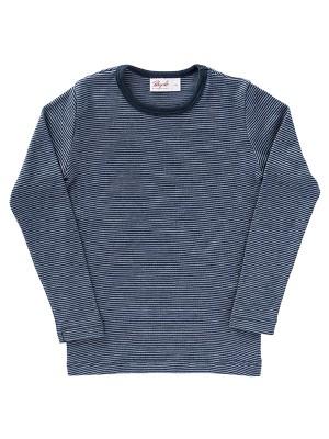 Bluză albastră, din lână și mătase