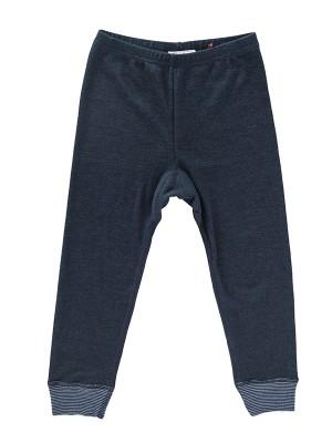 Pantaloni comozi, bleumarin, din lână și mătase