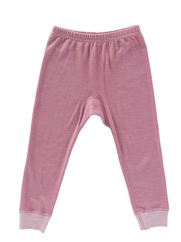 Pantaloni comozi, roz, din lână și mătase