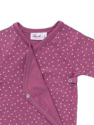 Body-kimono, model buline roz, din bumbac organic