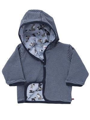 Jachetă reversibilă de toamnă, model cățeluși, din bumbac organic