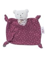 Jucărie pentru bebeluși, din bumbac organic, roz