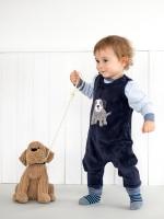 Costumaș de catifea pentru băieței, din bumbac organic