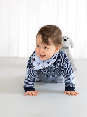 Eșarfă bebeluși, model cățeluși, din bumbac organic