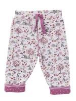 Pantaloni reversibili, cu model iepurași, din bumbac organic