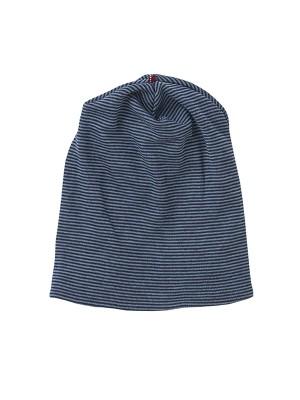Căciulă pentru copii, din dublu strat de lână și mătase, bleumarin