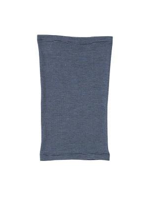 Fular tubular, din lână și mătase, bleumarin