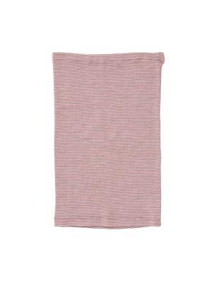 Fular tubular, din lână și mătase, roz