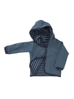 Jachetă reversibilă de toamnă, model dungi, din bumbac organic