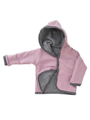 Jachetă reversibilă de toamnă, model buline, din bumbac organic