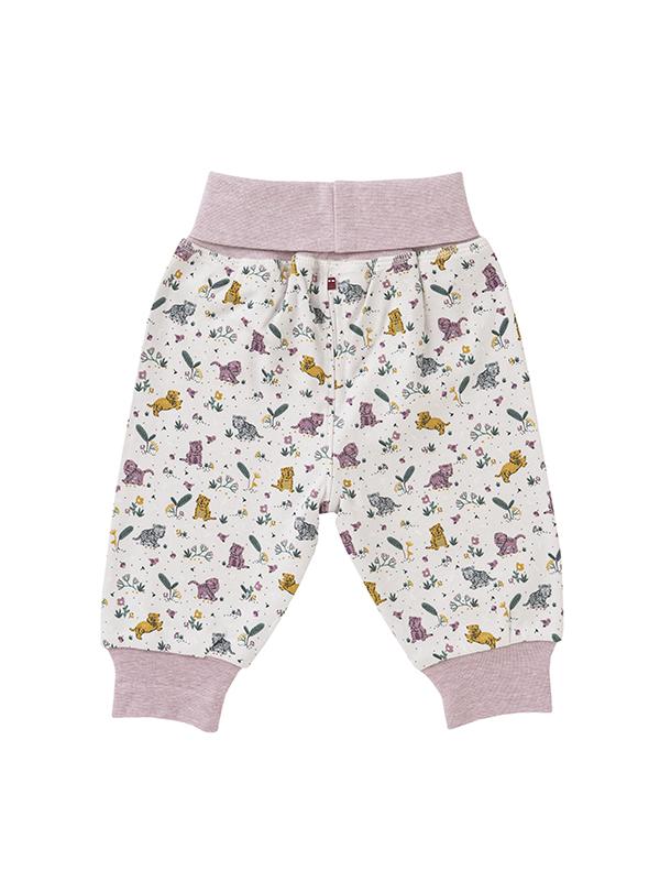 Pantaloni reversibili, cu model tigri, din bumbac organic