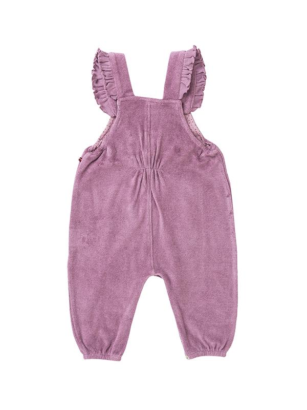 Salopetă chic pentru fetițe, din bumbac organic roz
