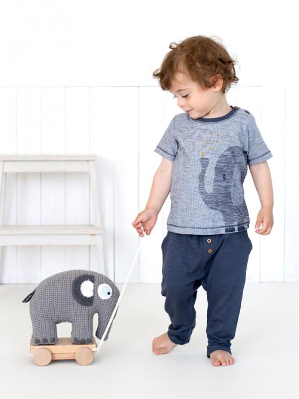 Tricou băieți, cu bebefant, din bumbac organic