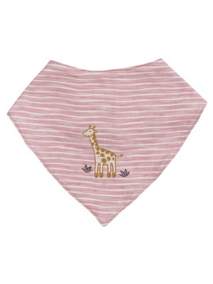 Eșarfa bebeluși din bumbac organic, cu model girafă