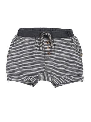 Pantaloni scurți pentru băieței, cu dungi gri, din bumbac organic