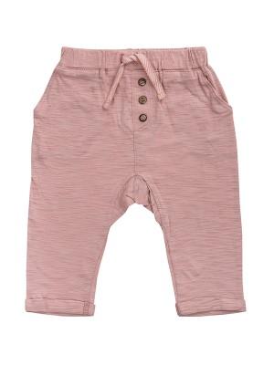 Pantaloni văratici pentru fetițe, roz deschis, din bumbac organic