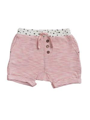 Pantaloni scurți pentru fetițe, roz deschis, din bumbac organic