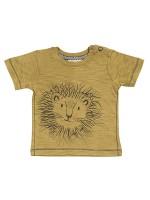 Tricou văratic, cu model savană, din bumbac organic