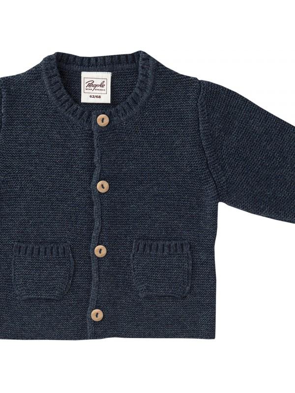 Jachetă lână și bumbac organice