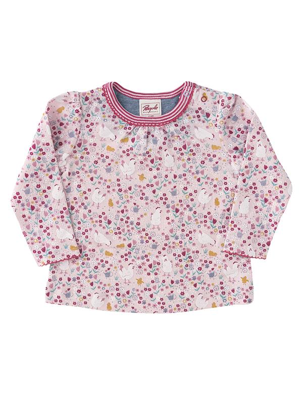 Bluză fetițe, Puișorul mamei, din bumbac organic