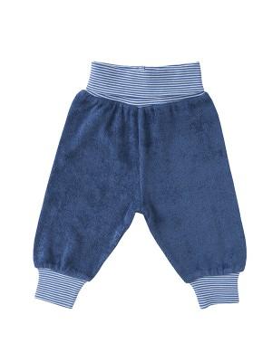 Pantaloni din catifea, albastru închis