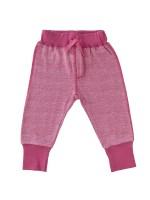Pantaloni comozi roz închis, din bumbac organic