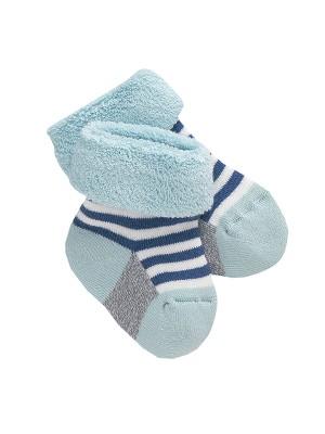 Șosete bebeluși bleu, din bumbac organic